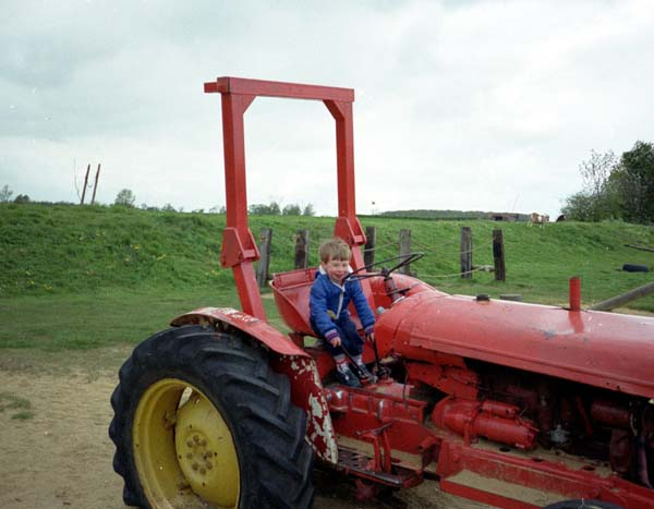 Martin sitting on a tractor