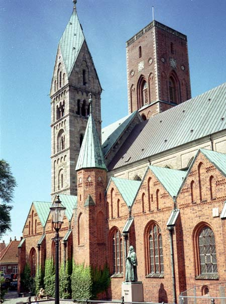 Side view of Ribe Cathedral