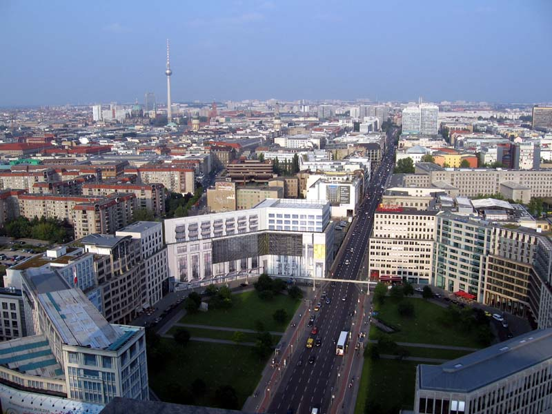 View from a high tower looking eastwards over Berlin