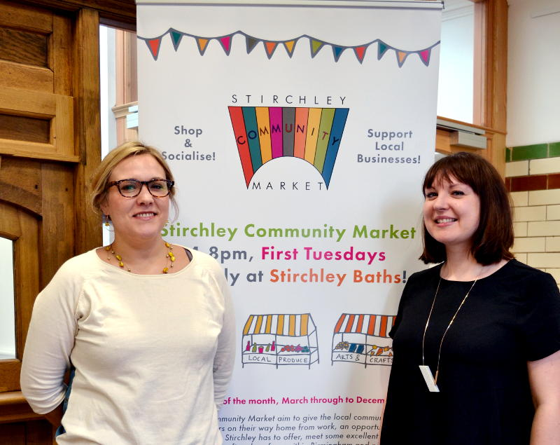 Kathy, Kerry and Stirchley Market sign