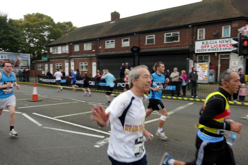 Phil runs through Stirchley during the 2012 Great Birmingham Run