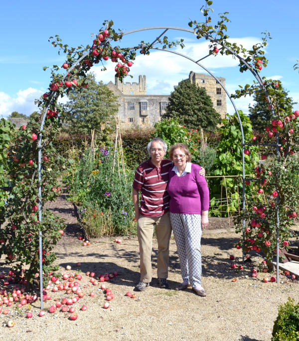 Phil and Miriam at Helmsley Walled Garden