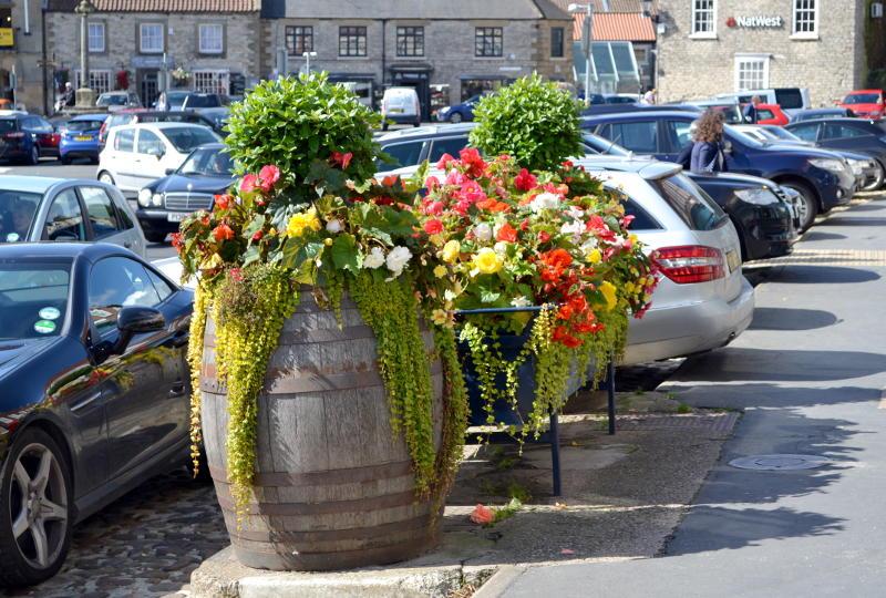 Flower tub at Thirsk