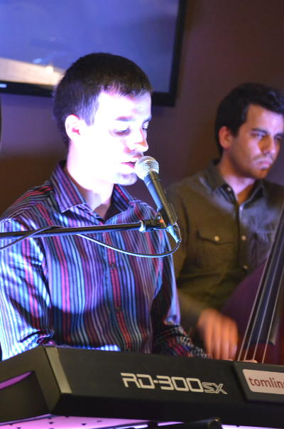 Tom Lindsay (keyboard) leading his jazz quartet