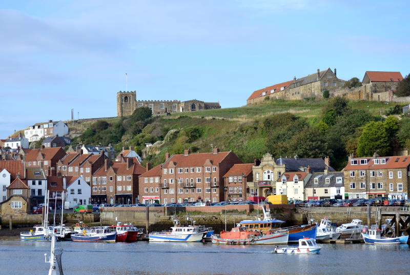 Whitby Church and harbour
