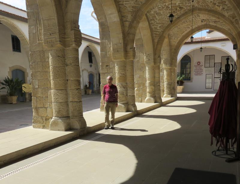 Phil under the arches at St Lazarus' Church, Larnaca