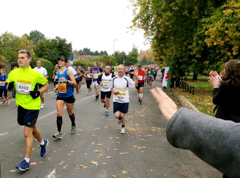 Phil running dow Selly Park Road