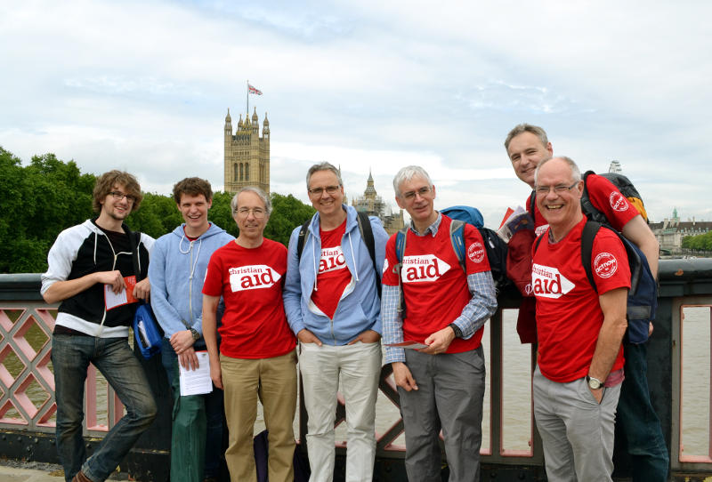 With a group from Christ Church with the Houses of Parliament in the background