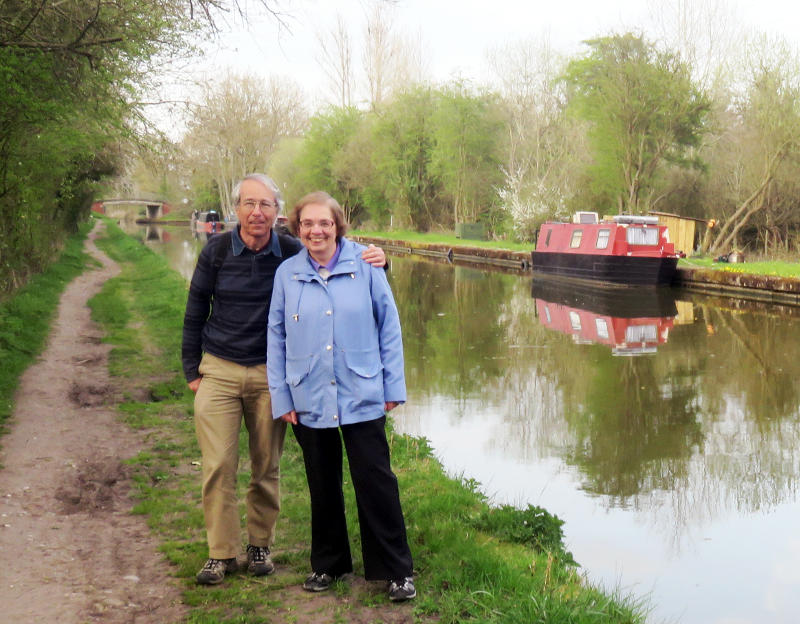 Phil and Miriam by the Grand Union Canal at Lapworth