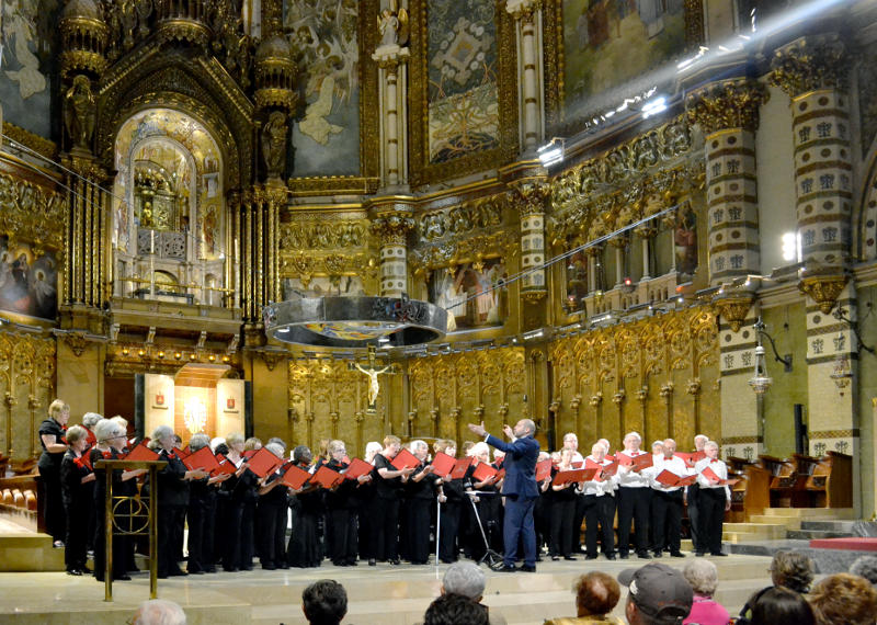 The Phoenix Singers at Monserrat monastery