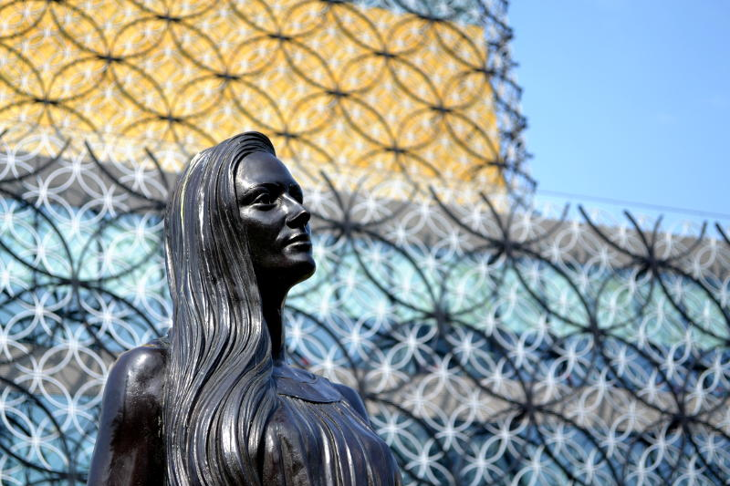 Part of the Typical Family sculpture outside the Library of Birmingham