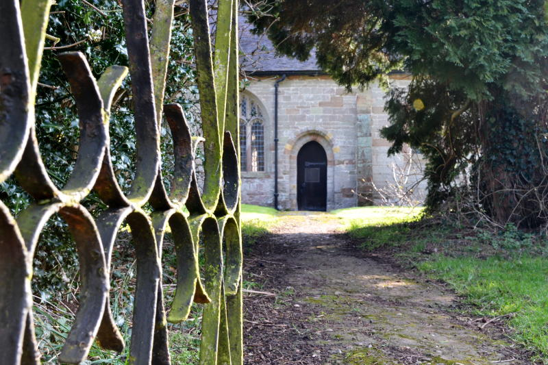 An old church and gate