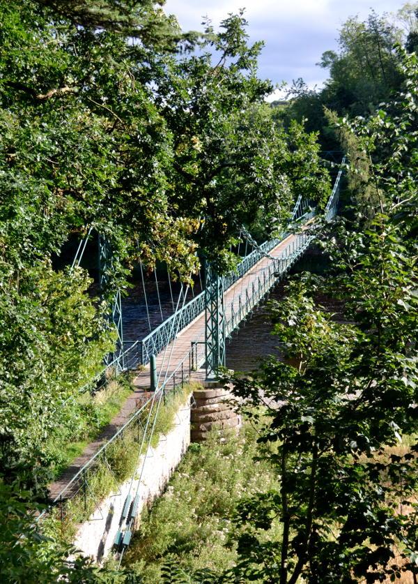 Footbridge over the River Tweed at Dryburgh