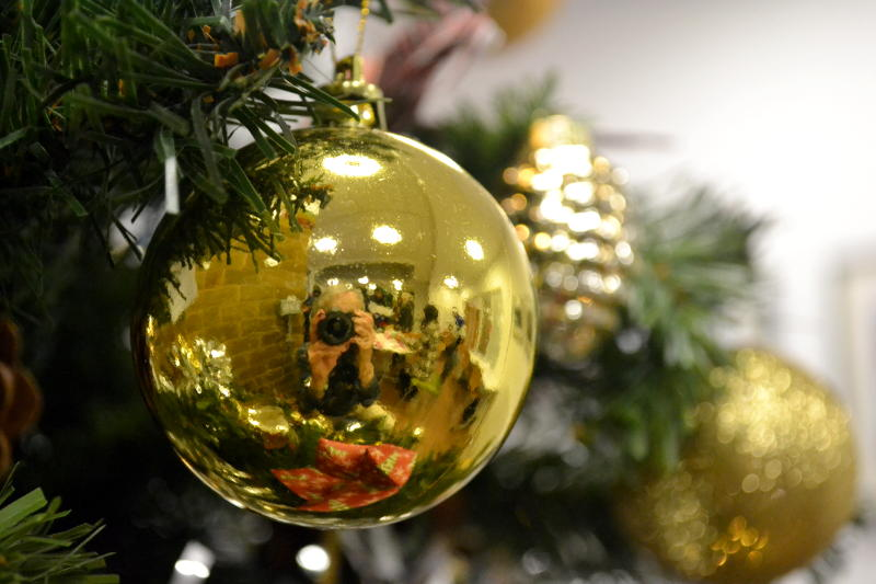Christmas bauble reflection