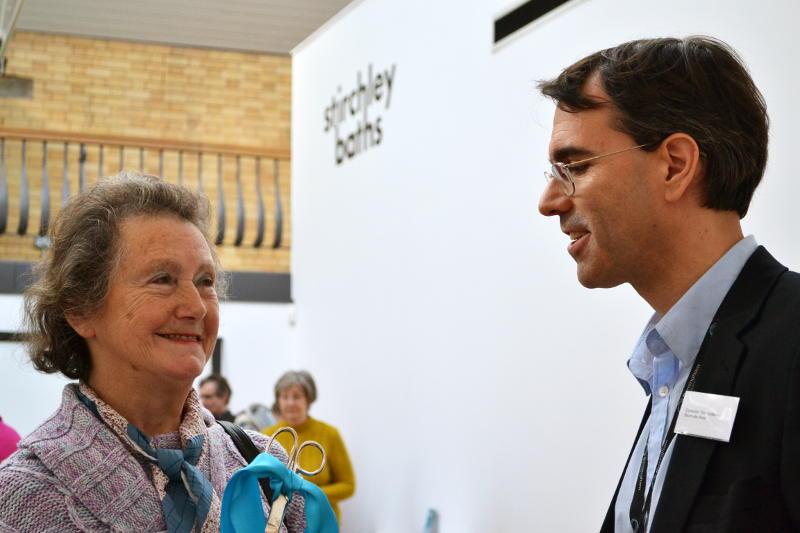 Brenda Thomas with Councillor Tim Huxtable