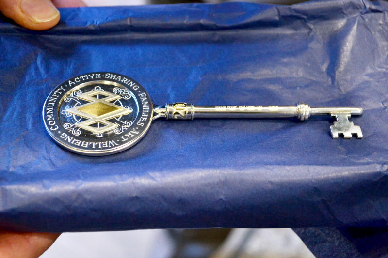 The new ceremonial key