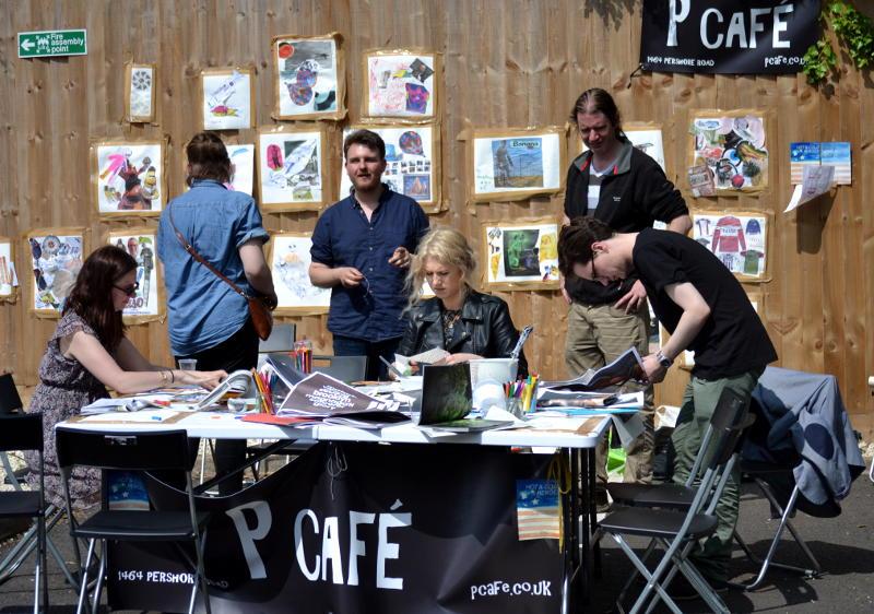 Stall run by P Café at the Stirchley Fête