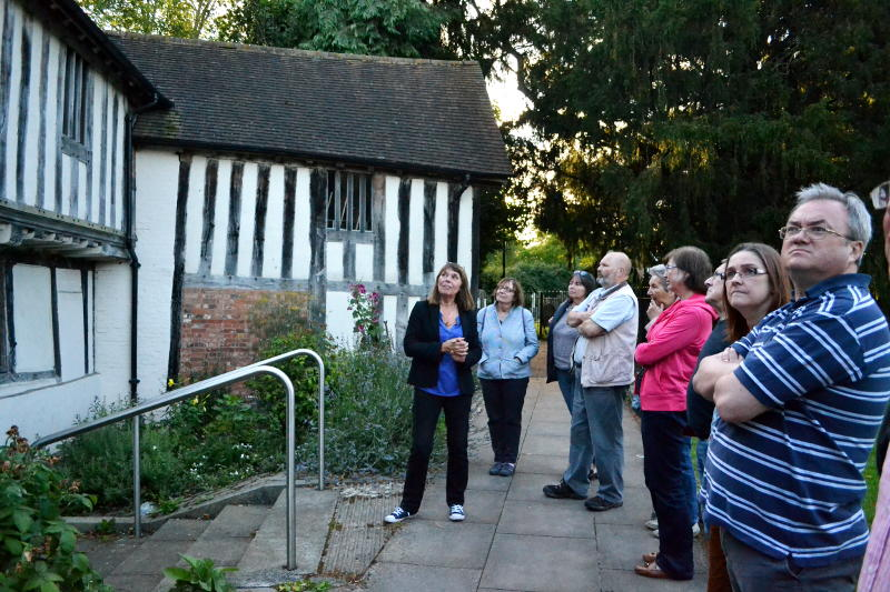 Members of Stirchley History Group on a visit to St Nicolas Place