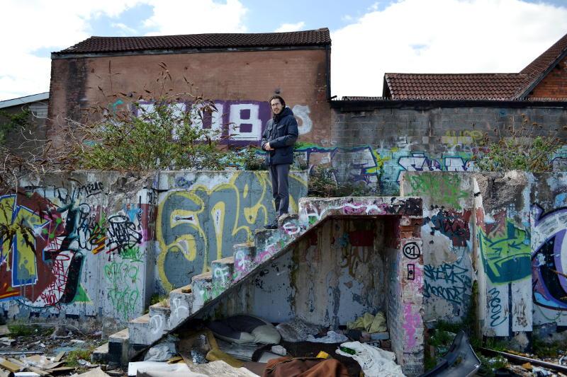 Martin on a derelict site