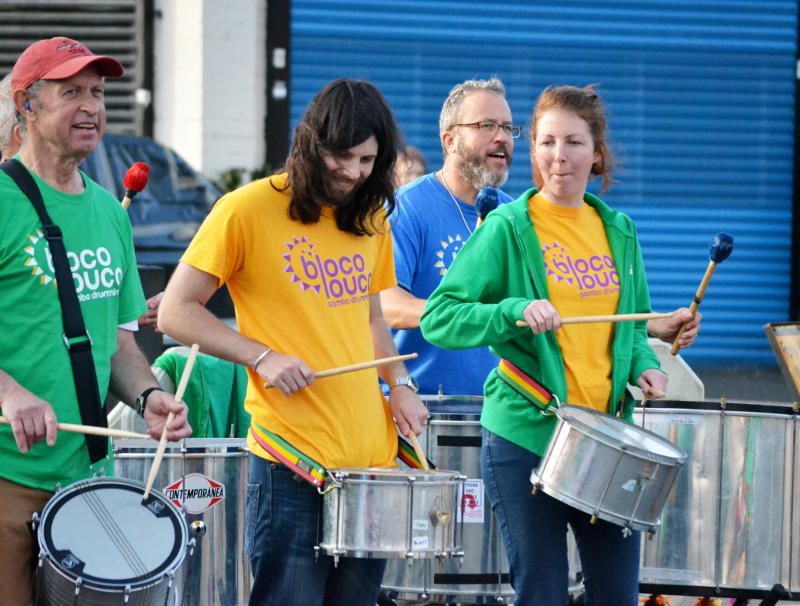 The Bloco Louco drumming group