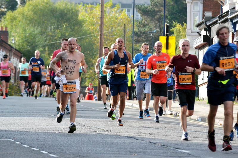 Runners on Bournville Lane