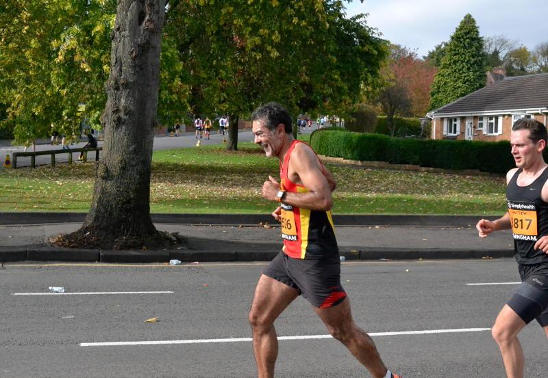 Leading runners in the Half-Marathon