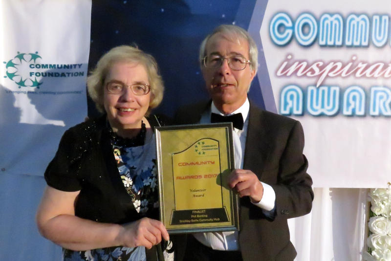 Phil and Miriam at the Community Inspiration Awards ceremony