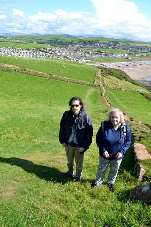 On a steep path above St Bees, Cumbria