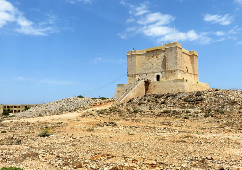 St Mary's Tower on Comino island