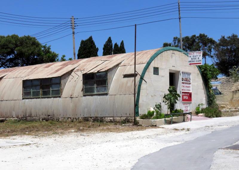 A Nissen hut turned tourist shop