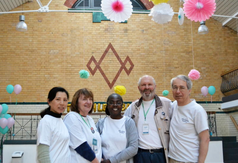 Phil with other Stirchley Baths volunteers