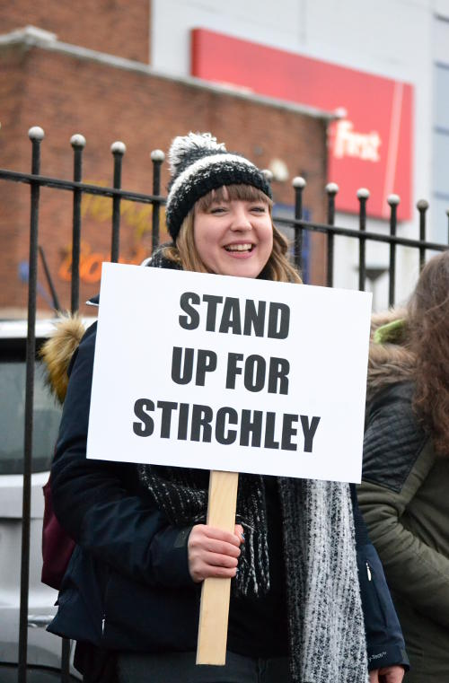 Campaign placard: Stand Up for Stirchley