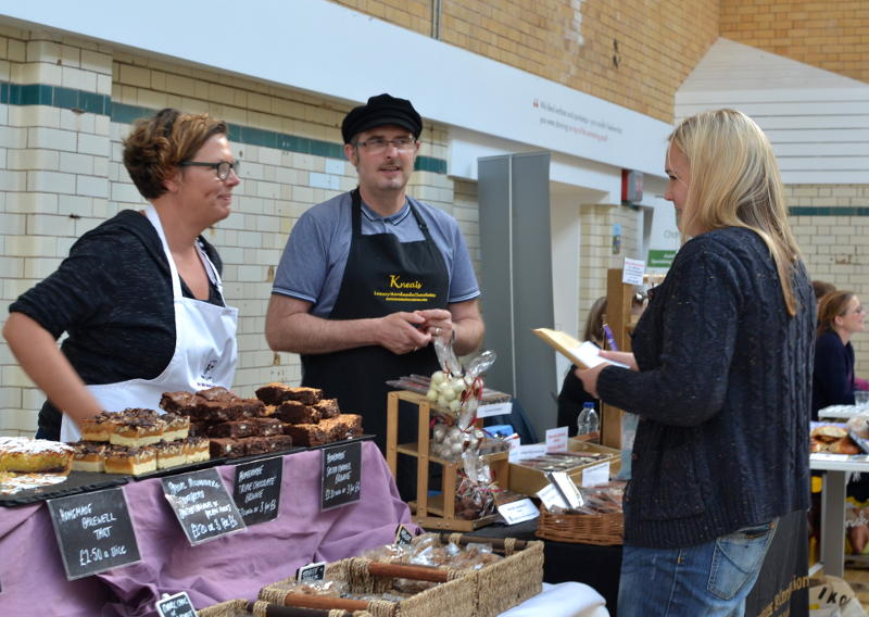 Stallholders at Stirchley Community Market