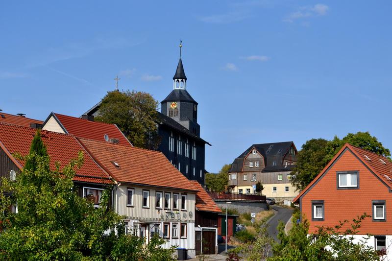 View of a German village