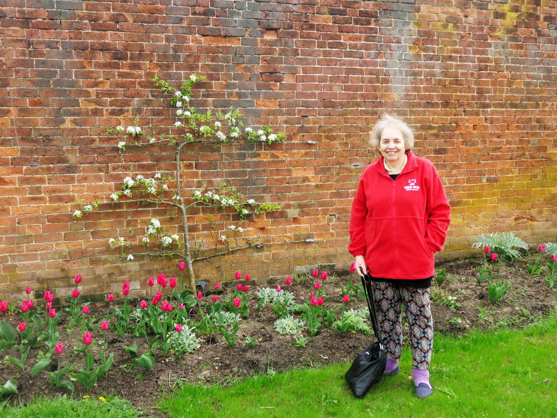 Miriam in the kitchen garden at Shugborough