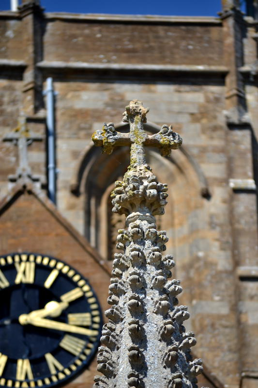Cross outside Sherborne Abbey