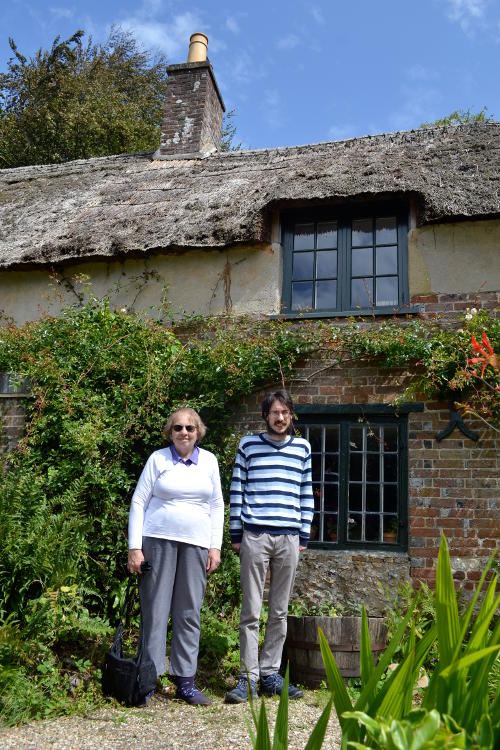 Miriam and Martin outside Thomas Hardy's house