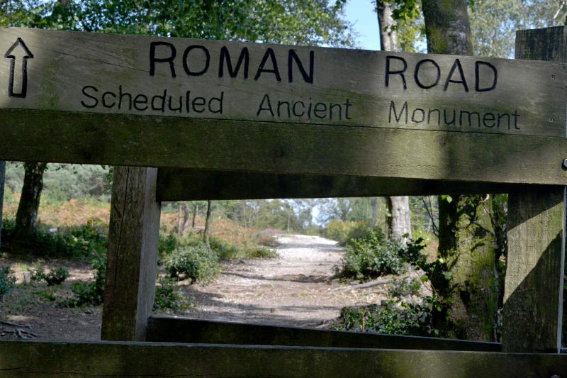 A section of Roman road