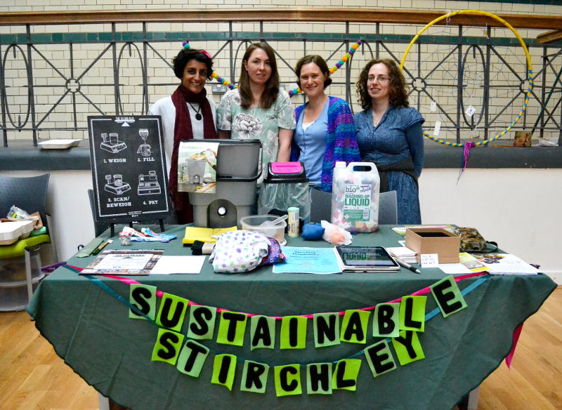 Members of Sustainable Stirchley behind a market stall