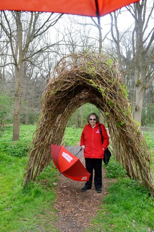Miriam in the grounds of Anne Hathaway's Cottage