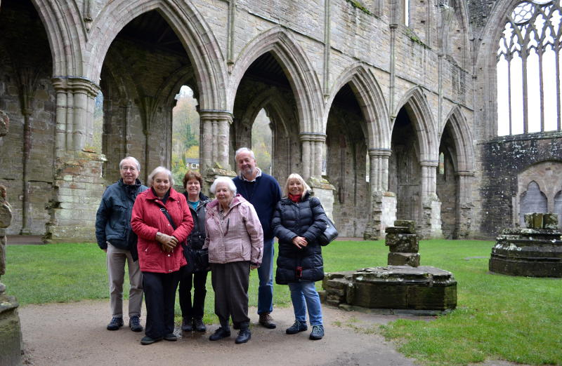 Family gathering at Tintern Abbey
