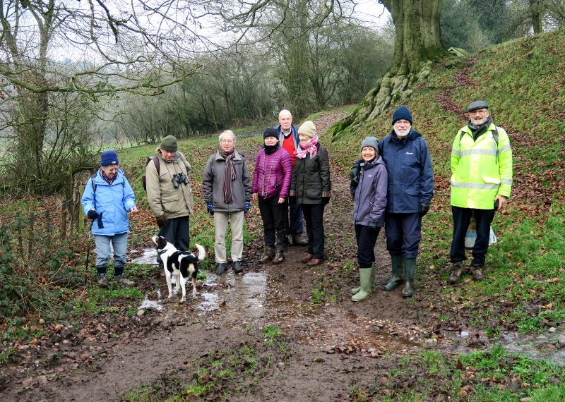 A group on a muddy walk
