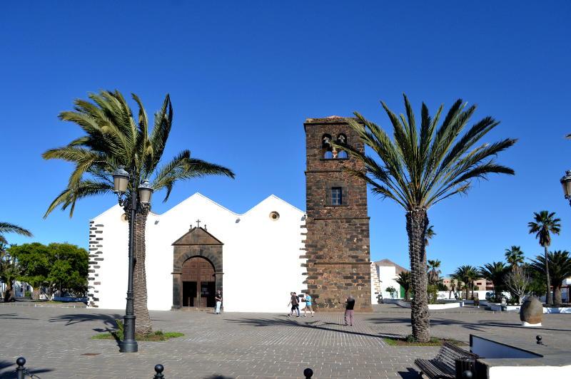 White church at La Oliva