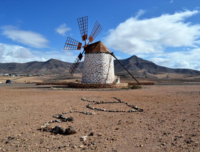 Six-sailed windmill at Tefía, Fuerteventura