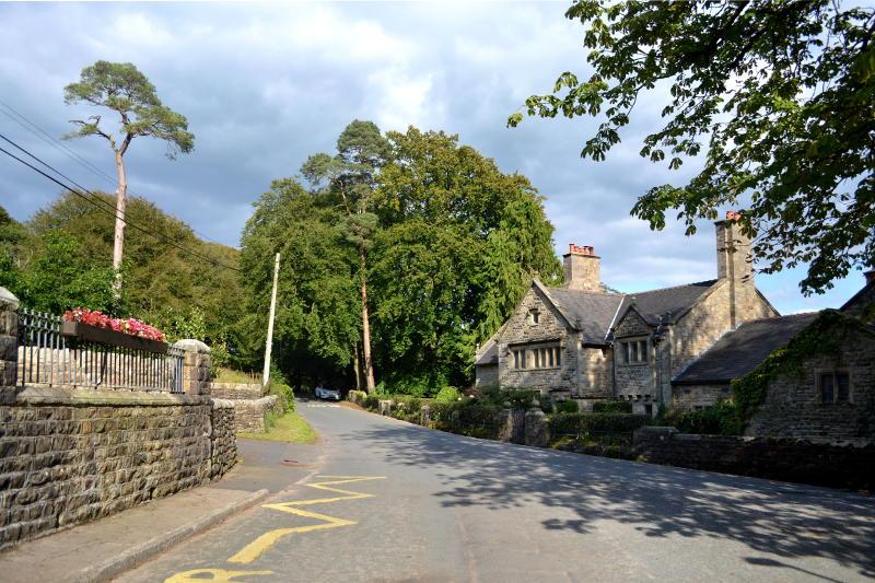 A road through a village