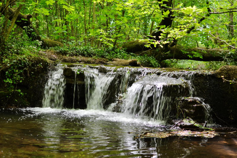 A small waterfall on Merritts Brook