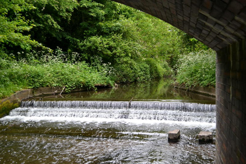 A waterfall on the River Rea